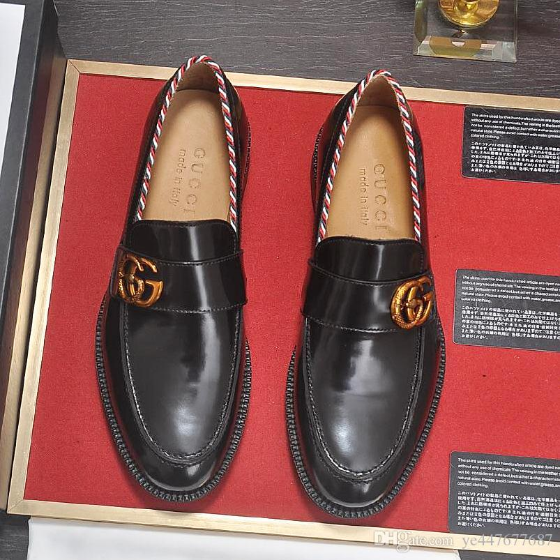 2019 New High Quality Patent Leather MenS Leather