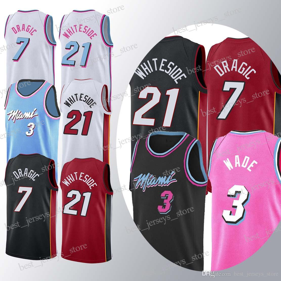 1b7cef396be 2019 21 Whiteside 7 Dragic Jerseys 3 Wade Superior Quality 18 19 Hot Sale  Jersey Sportswear Free Shopping From Best jerseys store