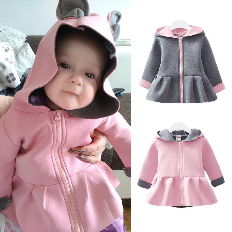2414fd624 2019 Brand New Newborn Infant Baby Girls 3D Ears Rabbit Hooded ...