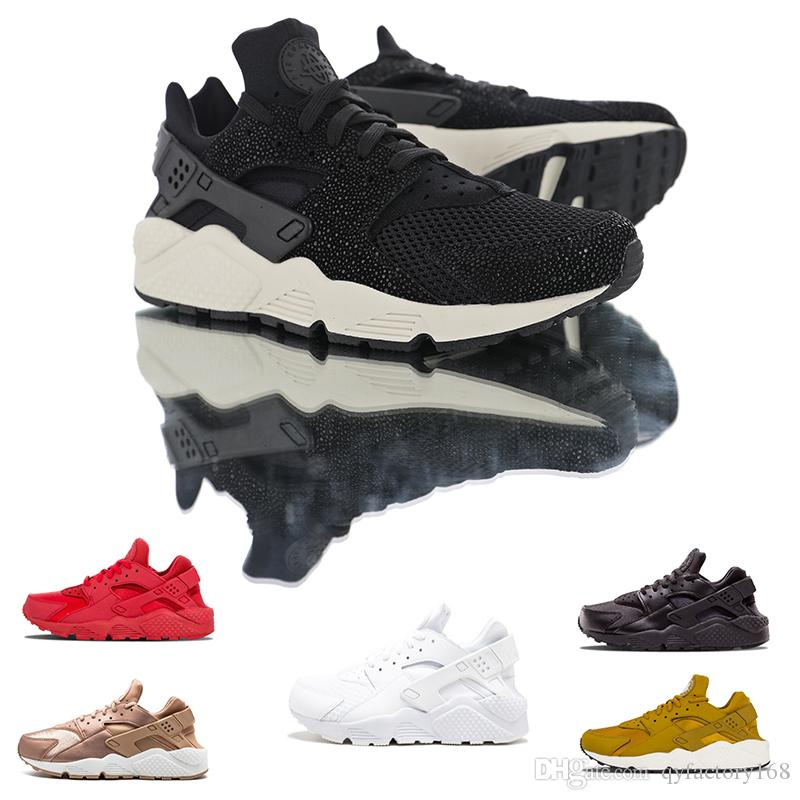 41ca5752e5f28 New Huarache 1.0 4.0 Running Shoes Men Women Top Quality Stripe Balck White  Sport Shoes Designer Sneakers Trainers 36 45 Shoe Shops Brown Shoes From ...