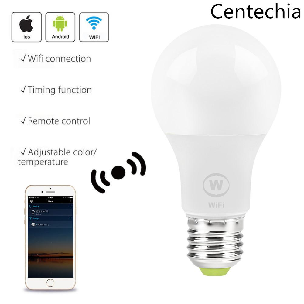 Smart WiFi Bulb White LED 6 5W Light Lamp APP Light Remote Control Work  With Alexa, Google Home Assistant and IFTTT