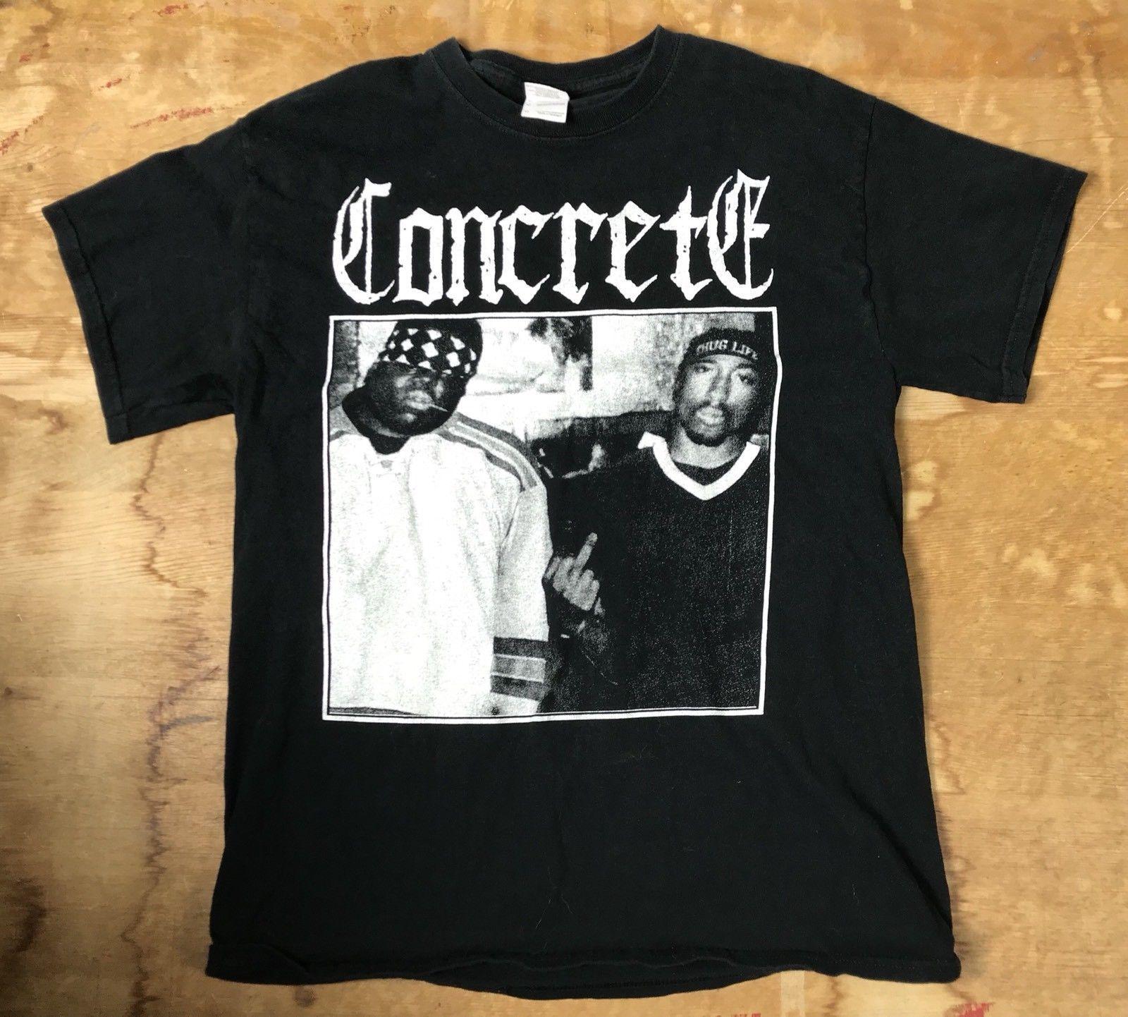 2fdd74695 VTG 90s Tupac Biggie Smalls T Shirt Concrete East And West Unite ULTRA RARE  M Men Women Unisex Fashion Tshirt Crazy T Shirts Designs Ridiculous T Shirt  From ...