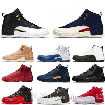 12 12s Basketball Shoes For Men white black Gym Red Michigan College Navy Classic Designer Mens Basketball Shoes Size 40-47