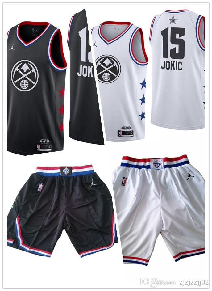 super popular a290d 6e893 All 2019 star Jokic 15 Nikola Nuggets Jersey The City Denver Jokic 15  Nikola Brand Basketball Jersey NEW short Nuggets
