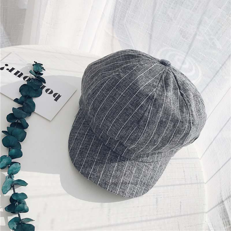 9aec857c7f9 Spring Soft Sister Newsboy Caps Female Hats Retro Striped Cap ...