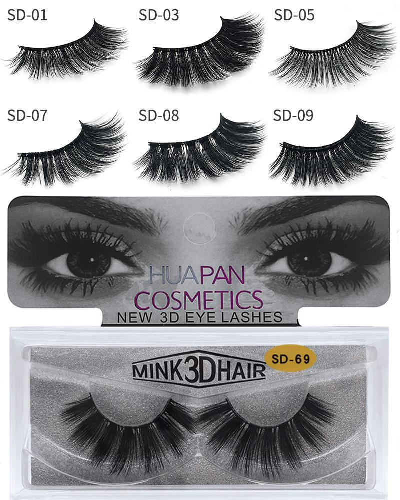 ba0516a0f66 3D Multilayer Mink Lashes Thick Mink Lash Strips False Mink Eyelashes For  Eye Makeup Fake Eye Lashes Eyelashes Extension Beauty Tool SD Eyebrow Tint  Eyelash ...