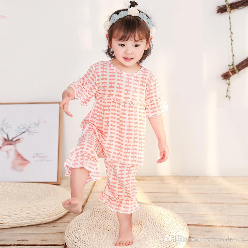 revendeur se connecter dernière collection Pyjama de coton pour fille à manches courtes pour fille en été, style fille