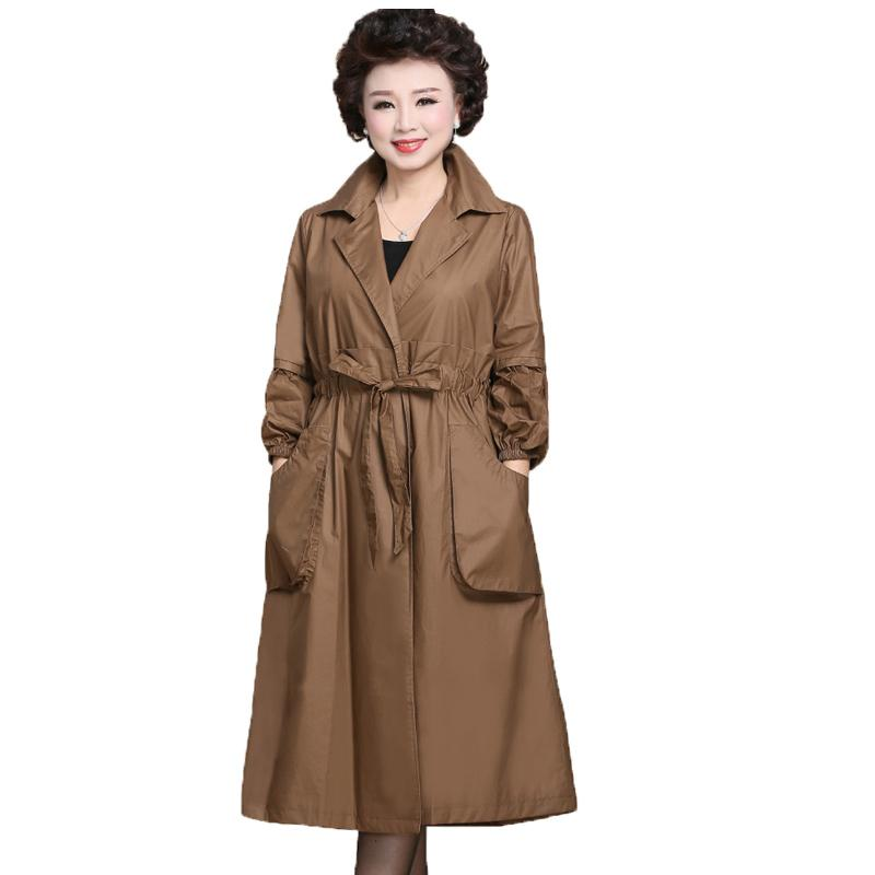 838b556fcf1c22 2019 OLN 2019 Women Jacket Middle Age Long Coat Spring Plus Size Ladies Tops  Fashion Korean Elegant Outwear Female Vintage Clothing From Insightlook