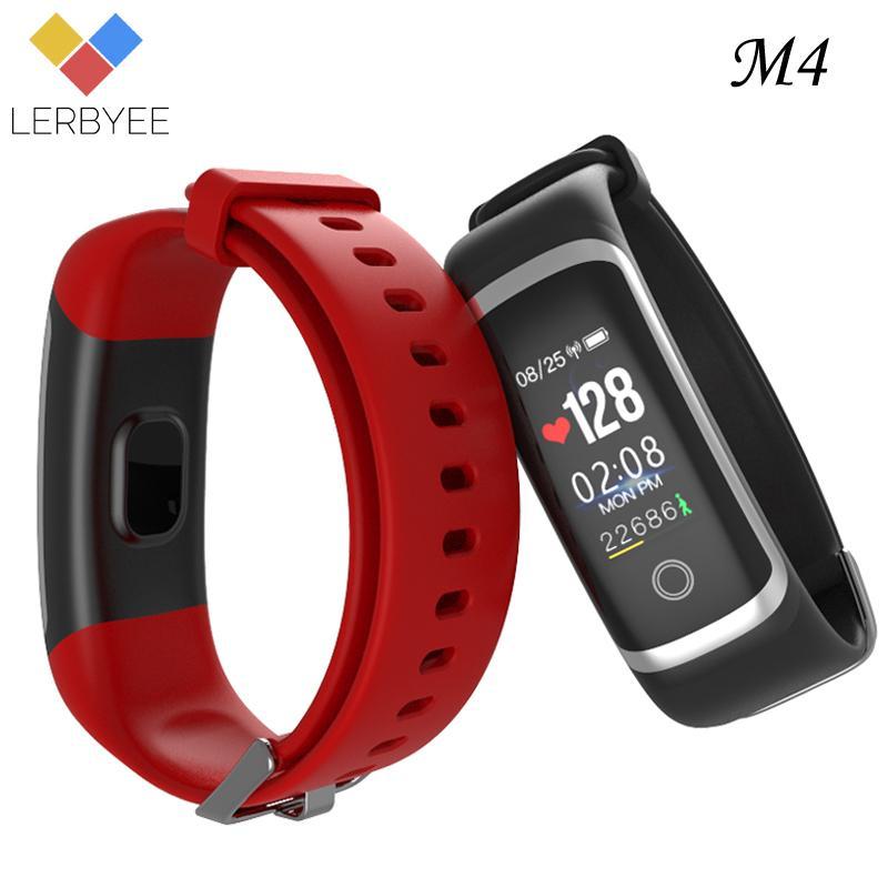 c025910642c6 Lerbyee M4 Pulsera inteligente Monitor de sueño Bluetooth Rastreador de  fitness Recordatorio de llamada Hacer fotos Pulsera deportiva para iOS ...