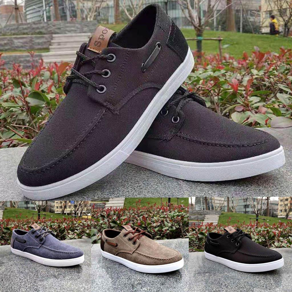 e72ec38c758 2019 new Men s Fashion Canvas Shoes Trend Casual Shoes Lace-Up Casual  Europe fashion Quality Guaranteed Hot Sale