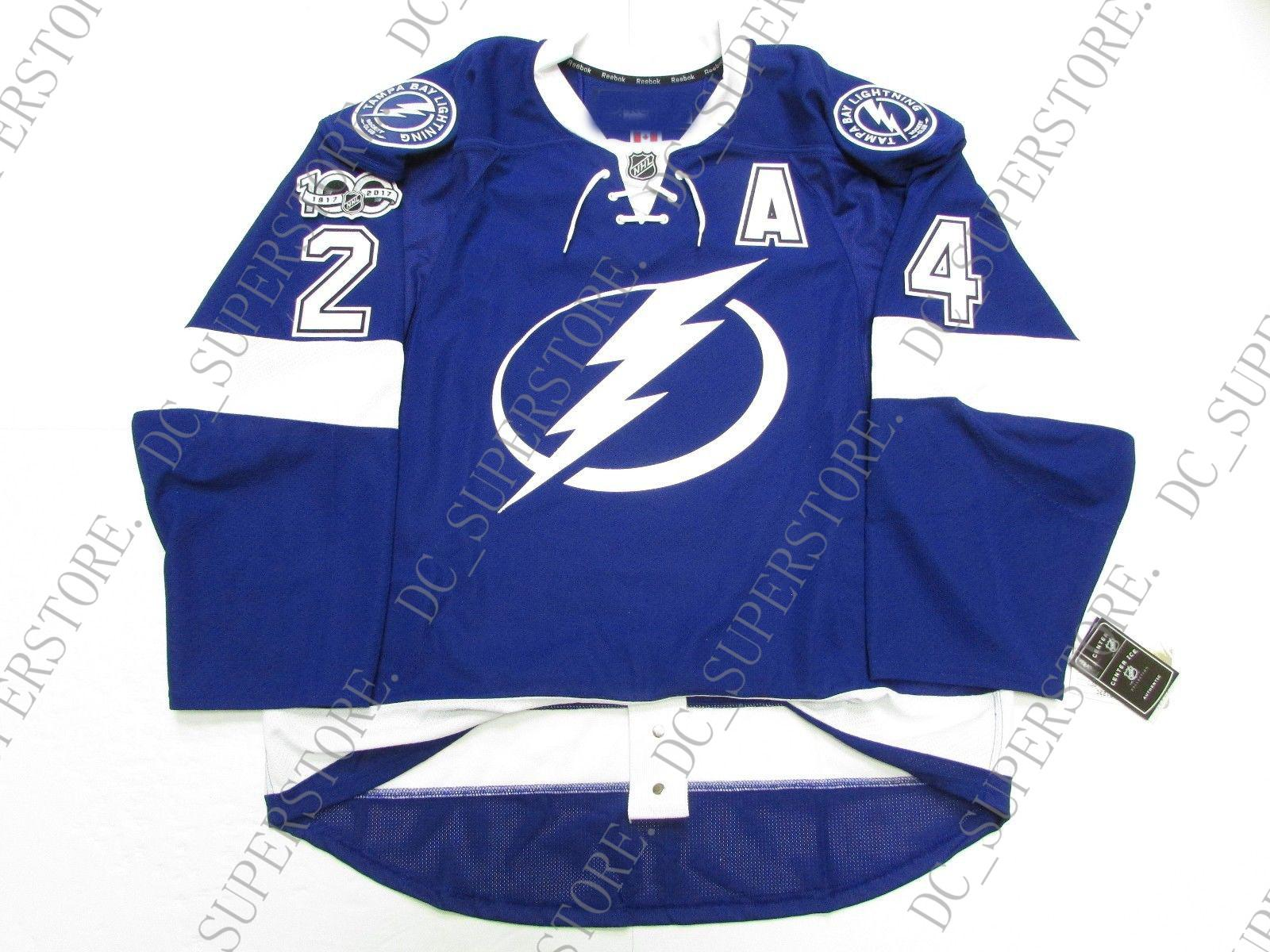 Cheap Custom CALLAHAN TAMPA BAY LIGHTNING HOME 100th ANNIVERSARY JERSEY  Stitch Add Any Number Any Name Mens Hockey Jersey XS 5XL UK 2019 From  Dc superstore 10de406b2