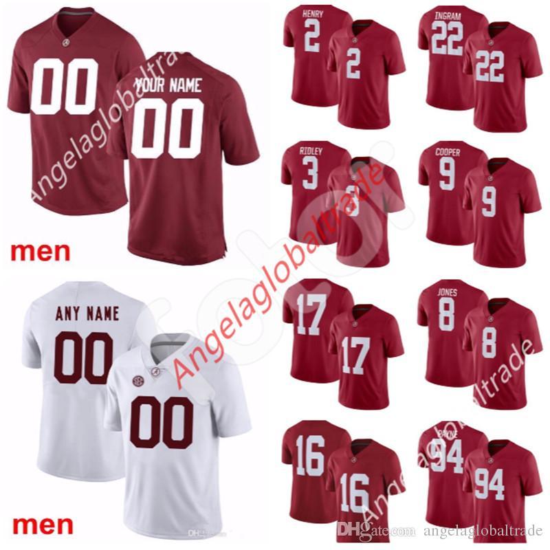 huge discount b8369 fd5d3 Custom NCAA Alabama Crimson Tide jersey 94 Da'Ron Payne 15 Ronnie Harrison  12 Ken Stabler 11 Henry Ruggs III Foster College Football Jerseys