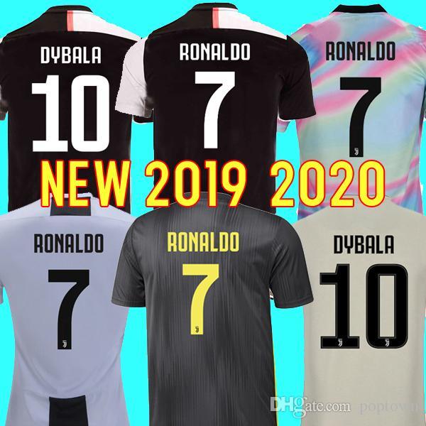 e601f60a8 2019 Thailand RONALDO Juventus 2019 2020 Champions League Soccer Jerseys  DYBALA 18 19 20 Sports Football Kit Shirt MEN WOMEN KIDS Sets CAMISETAS  From ...