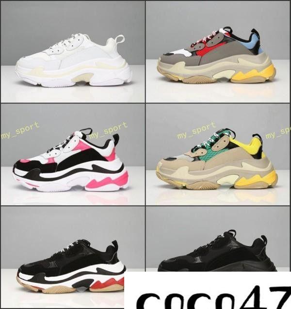Best Mens Sneakers 2020.Hot 2020 Fashion Paris 17fw Triple S Sneaker Triple S Casual Dad Shoes For Men S Women Beige Black Ceahp Sports Designer Shoe Size 36 46