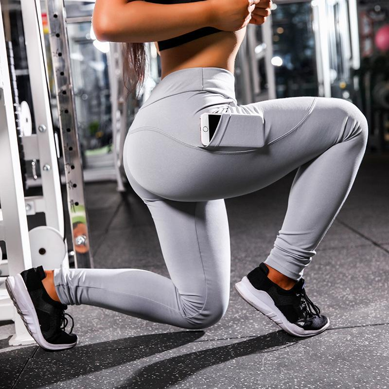 203d4daf1f 2019 Women Slim Jeggings Pocket Yoga Legging Push Up Sport Yoga Pants  Running Tights Side Sport Trousers Fitness Yoga Legging Workout From  Txjc0001, ...