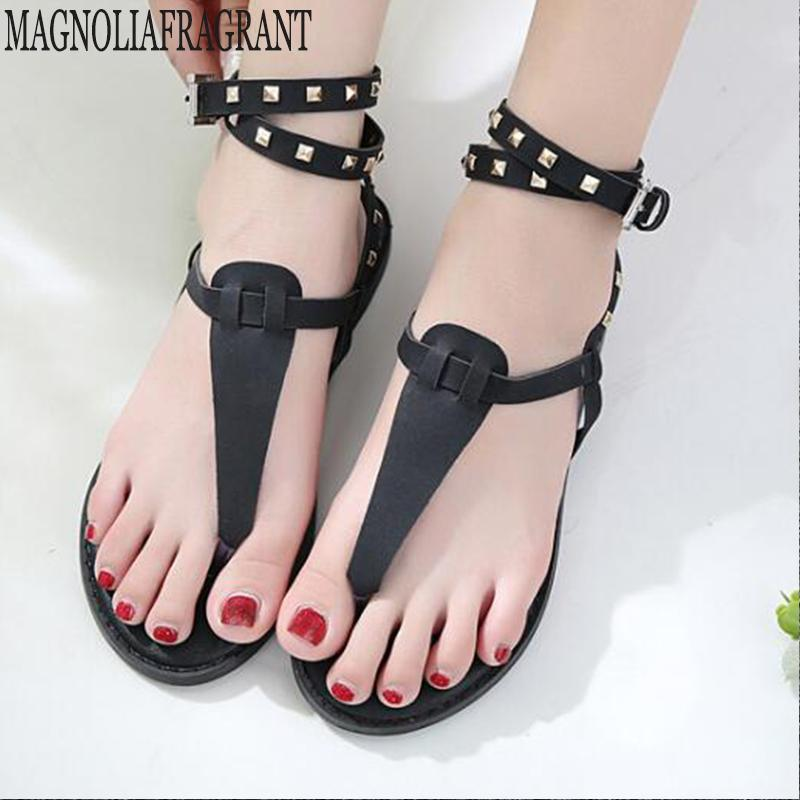 b83ce3b76efb Summer Sandals Women Flip Flops Thong Sandals Designer Buckle Band Ladies  Gladiator Rhinestone Sandal Shoes Zapatos Mujer Hy25 Cheap Shoes Wedge  Sneakers ...