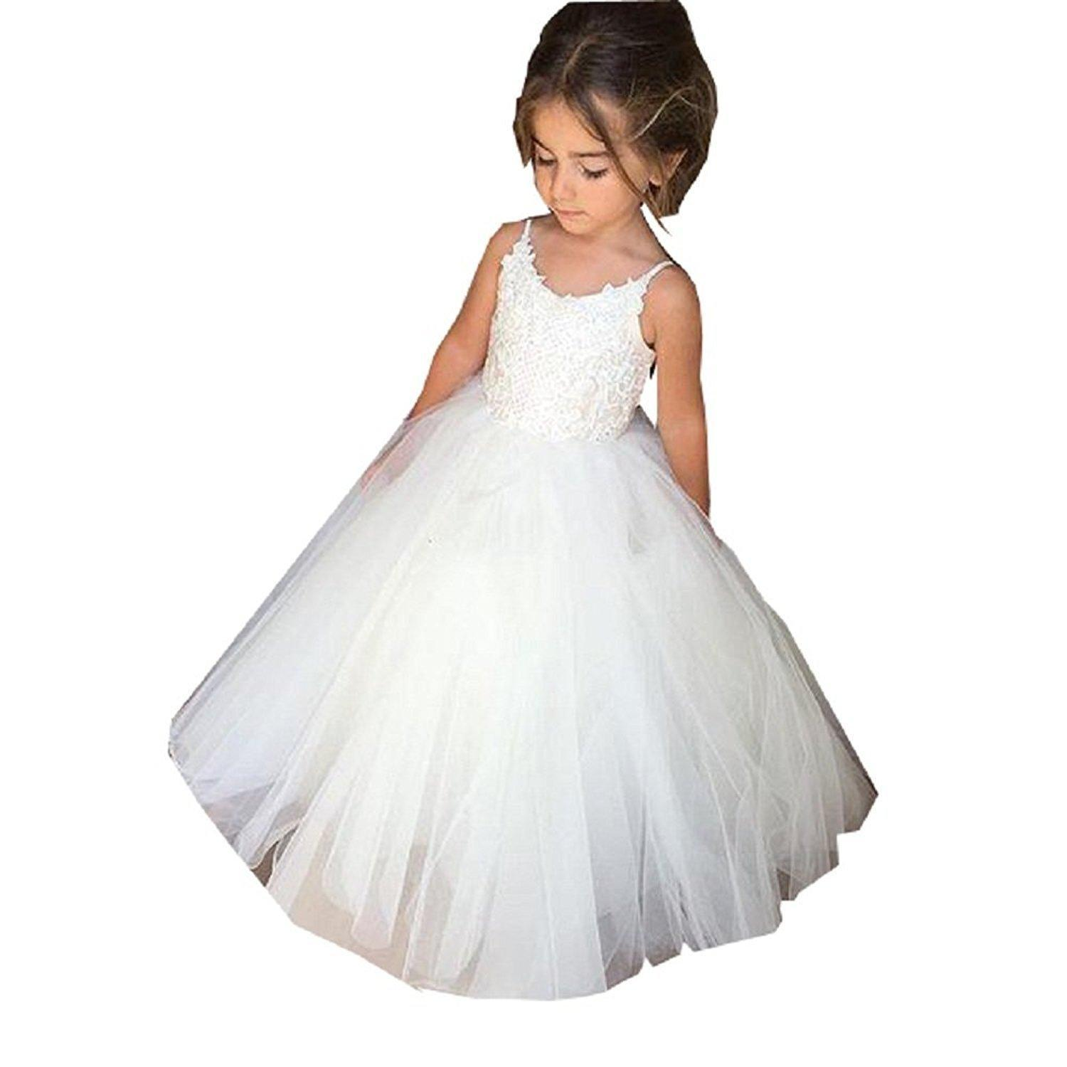 585f338c204 Wedding Flower Girls Lace Tulle Ball Gowns First Communion Dresses Kids  Dress for Wedding First Communion Dresses Party Dress Online with   70.64 Piece on ...