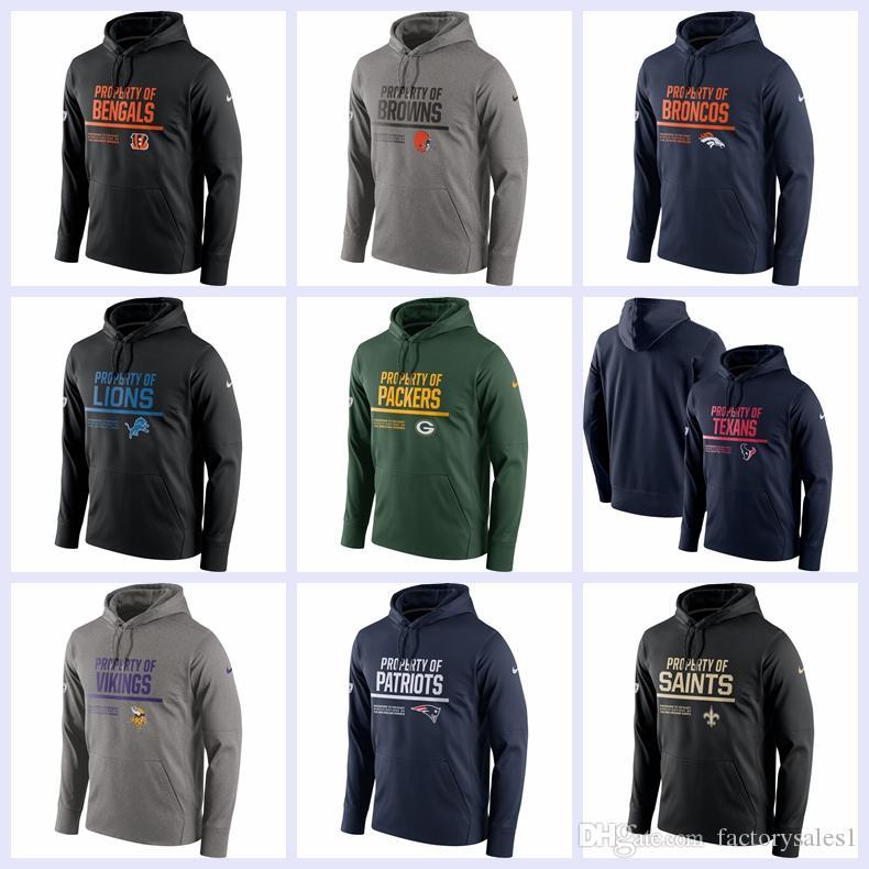 2018 Luxury Sweatshirt Men Brand Hoodie Bengals Browns Broncos Lions ... 39f8be14c38e
