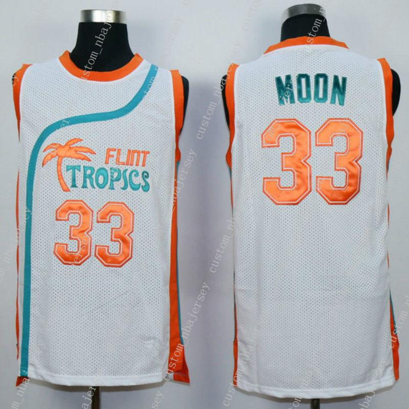 7d75f9c29154 2019 Cheap Custom Semi Pro Jackie Moon 33  Flint Tropics Basketball Jersey  White Stitched Customize Any Name Number MEN WOMEN YOUTH JERSEY XS 5XL From  ...