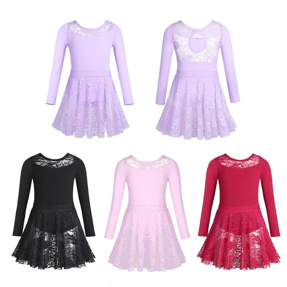 7c18162fb 2019 Allet For Girls IEFiEL Ballet Costumes For Girls Long Sleeves ...
