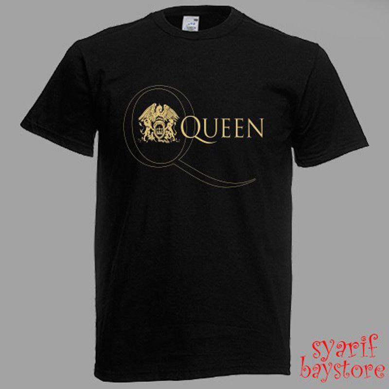 Queen Band Logo Rock Legend Men S Black T Shirt Funny Unisex Casual Top  Cotton T Shirts Fitted Shirts From Countrysidelocks 29567d265c5a