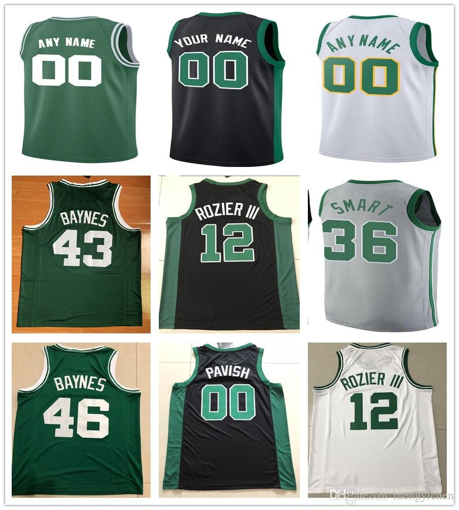 2e203db8df2 2019 Printed Terry Rozier III Robert Parish Aron Baynes Guerschon Yabusele  Robert Williams III Daniel Theis Semi Ojeleye Bird Wanamaker Jerseys From  ...