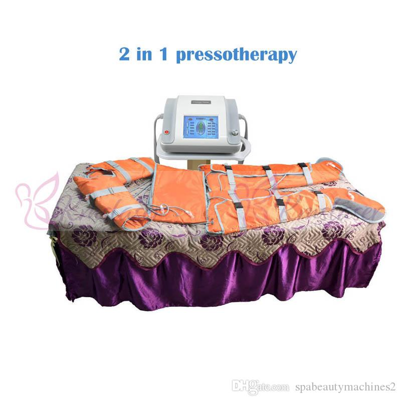 16 pcs air bags 2 in 1 far infrared light air pressure pressotherapy for  body sliming weight loss spa equipment