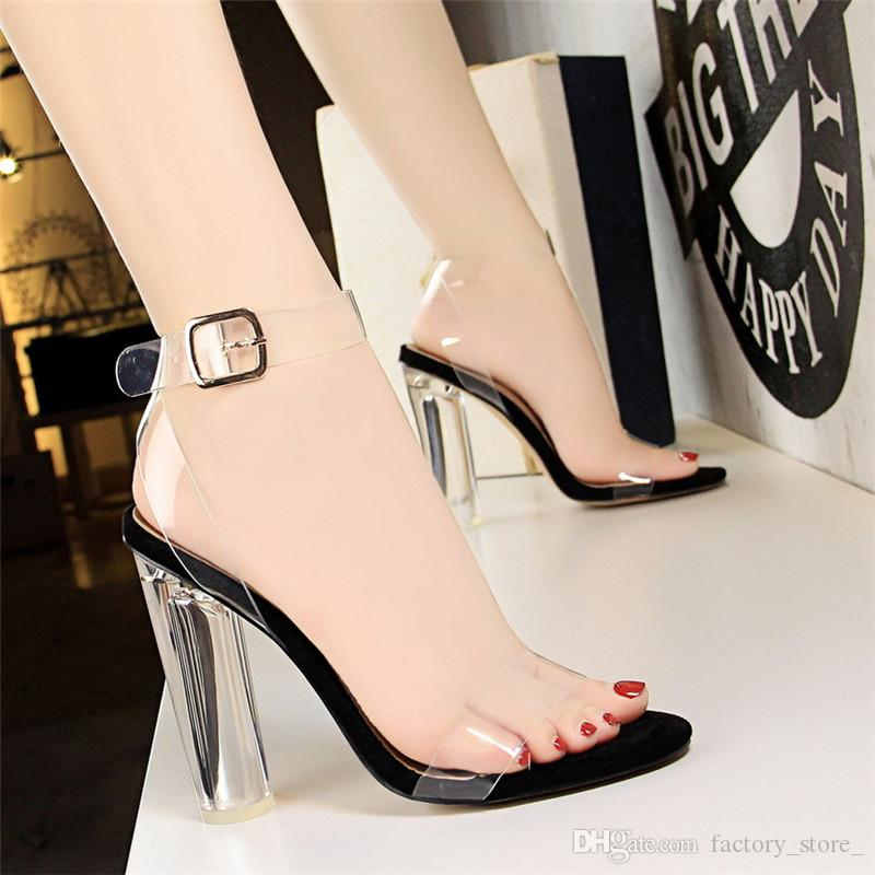 6b910744adba8 Compre Zapatos Para Mujer Zapatos Transparentes Para Mujer Sandalias Para  Mujer Sandalias De Tacón Block Zapatos Mary Jane Sandalias Para Mujer  Tacones ...