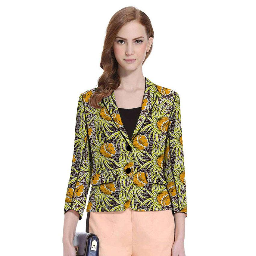 Dashiki clothes women print blazers Ankara patterns fashion suit jackets custom made female African wedding office lady coat