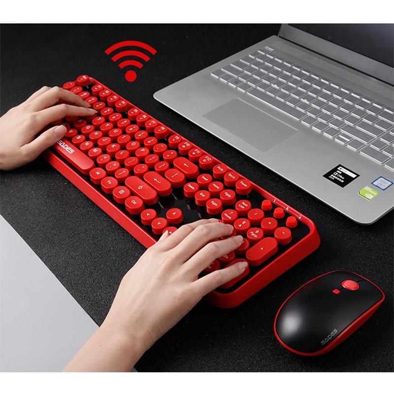 2 4g Wireless Gaming Mouse Keyboard Combo Round Button Ergonomics
