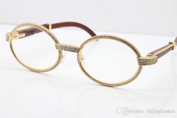 e55ecd6b0 Compre 2019 Novo Frete Grátis Óculos De Armação Completa Pedras Menores  Eyewear 7550178 Óculos De Madeira Óculos De Marca De Luxo Unisex Edição  Limitada De ...