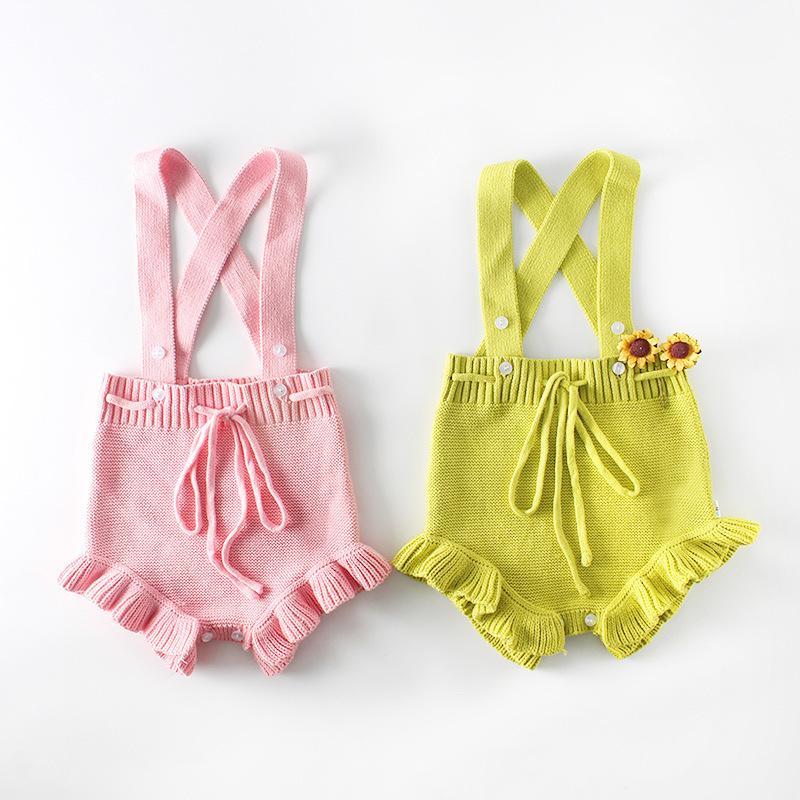 6c50db47d021 2019 Baby Girl Knitted Romper Roupas De Bebe Spring Infant Little ...