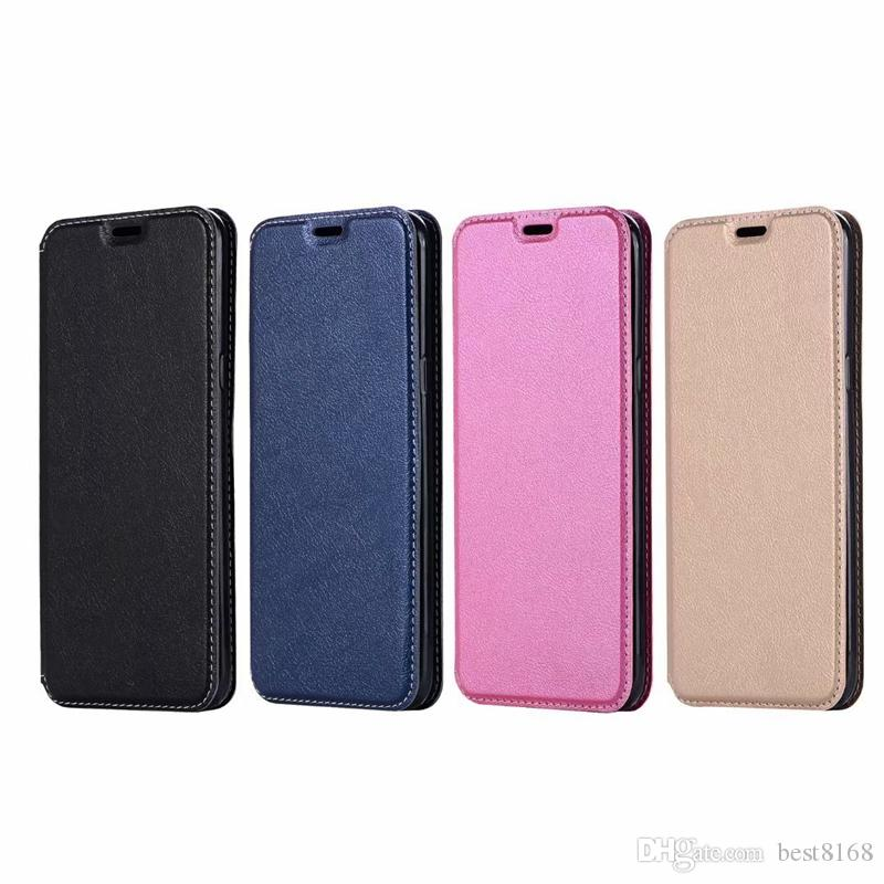 reputable site f4b1d 1abdb Suck Magnetic Closure Leather Wallet Case For Iphone XR XS MAX X 8 7 Galaxy  S10 S10e S10 A7 2018 Ultra-thin Slot Slim Luxury Phone Covers