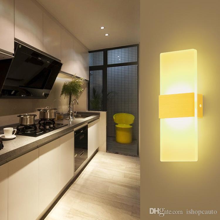 Murale Éclairage Applique Chevet Ingénierie Acrylique Hôtel Minimaliste Led Moderne Lampe Chambre Lumière Couloir EDHb9eIW2Y