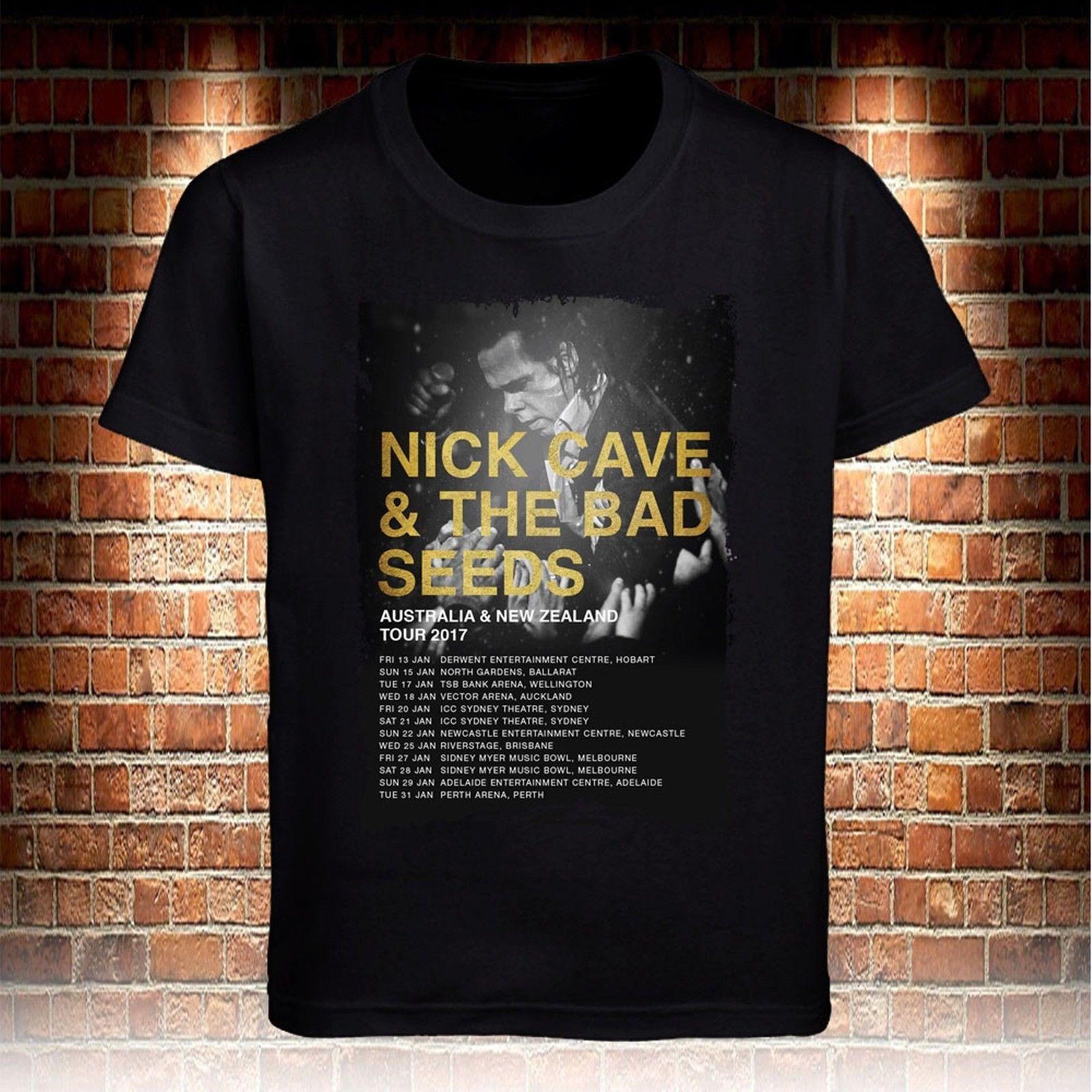 5d6b0fa0 Black T Shirts Nick Cave & The Bad Seeds Australia & New Zealand Tour 2017 S  3XL Funny Unisex Buy Tee Top T Shirt Sites From Fantees, $12.96  DHgate.Com