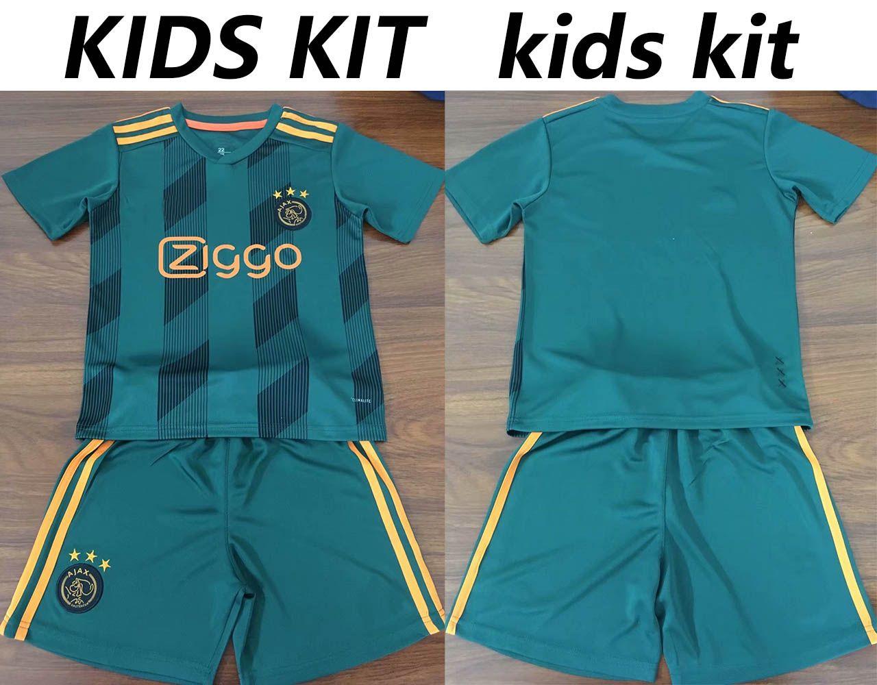 b9e821a2a 2019 2019 2020 TOP Ajax DE JONG TADIC Home Away Kids Kit Uitshirt  Thuisshirt Kit Soccer Jerseys NERES ZIYECH Boy Football Shirt DE LIGT From  Popsports, ...