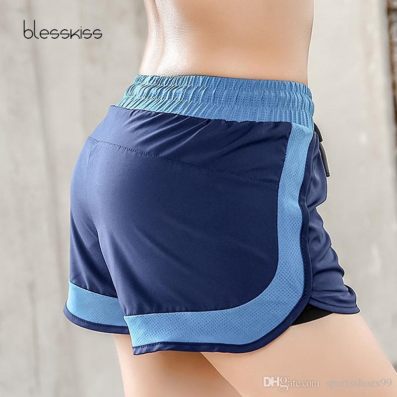 Yoga Mujeres Pantalones Shorts Correr Fitness Cortos Juul Corto Mujer Sport Rápido Doble Ajustable De Secado Blesskiss Para Capa TK1cul3FJ