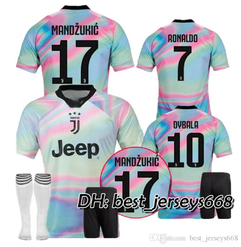 timeless design 1de92 b6179 RONALDO Juventus kit 2018 2019 soccer jersey DYBALA 18 19 EA Sports  juventus football kit shirt Champion league MEN Adult JUVE kit