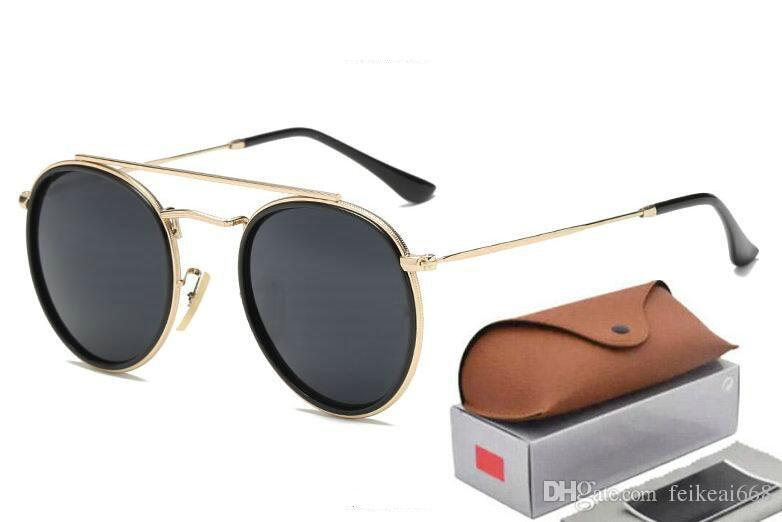 fef248cbf3 Compre Nuevo Arrial 3647 Steampunk Gafas De Sol Mujeres Hombres Marco De  Metal Doble Puente Lente De Cristal Retro Vintage Gafas De Sol Goggle Con  Caja A ...