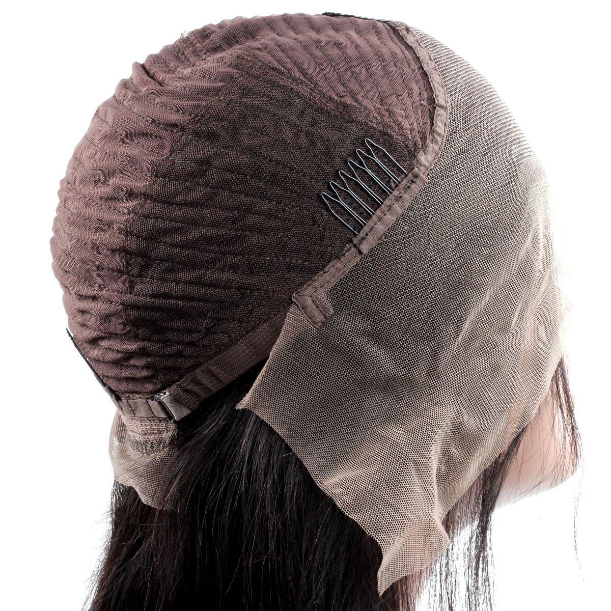 Cheveux humains raides avant de lacet perruques brésiliennes cheveux crépus bouclés avant de lacet perruques moyenne taille suisse Lace Body Body Wave perruques de cheveux humains