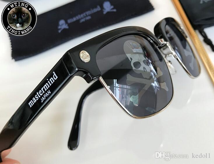 ab339ef370b MMJ Japan Mastermind Brand Retro Steampunk Frame SKULL Square Male Logo Sunglasses  Men Black Oversized Big Coating Sun Glasses For Men Online Eyeglasses ...