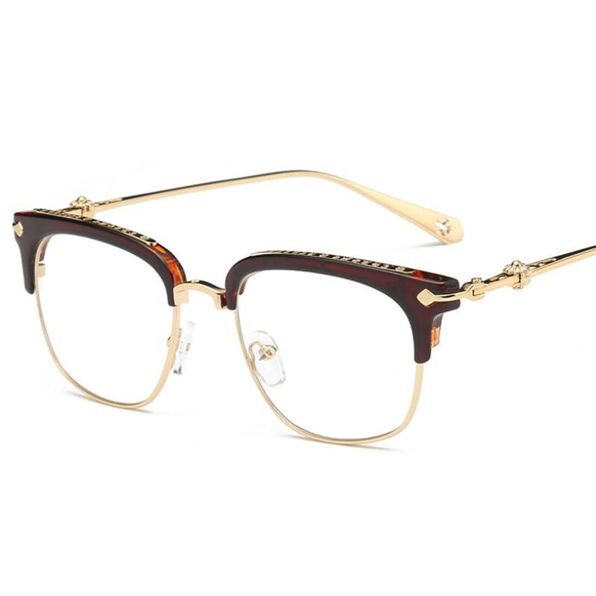 f5e02c3b95e Vintage Metal Frames Retro Goggles Frames Glasses Women Men ...