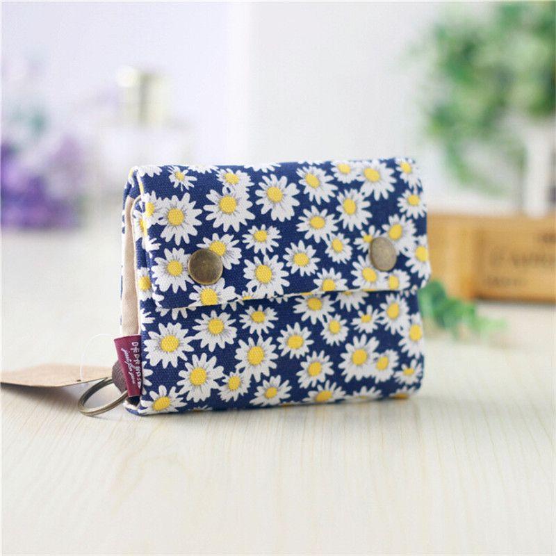 Women Bag Hasp Floral Wallet Zipper Coin Purse Clutch Phone Bag Card Holder Short Wallet For Female Denim Money Bag Men Purse