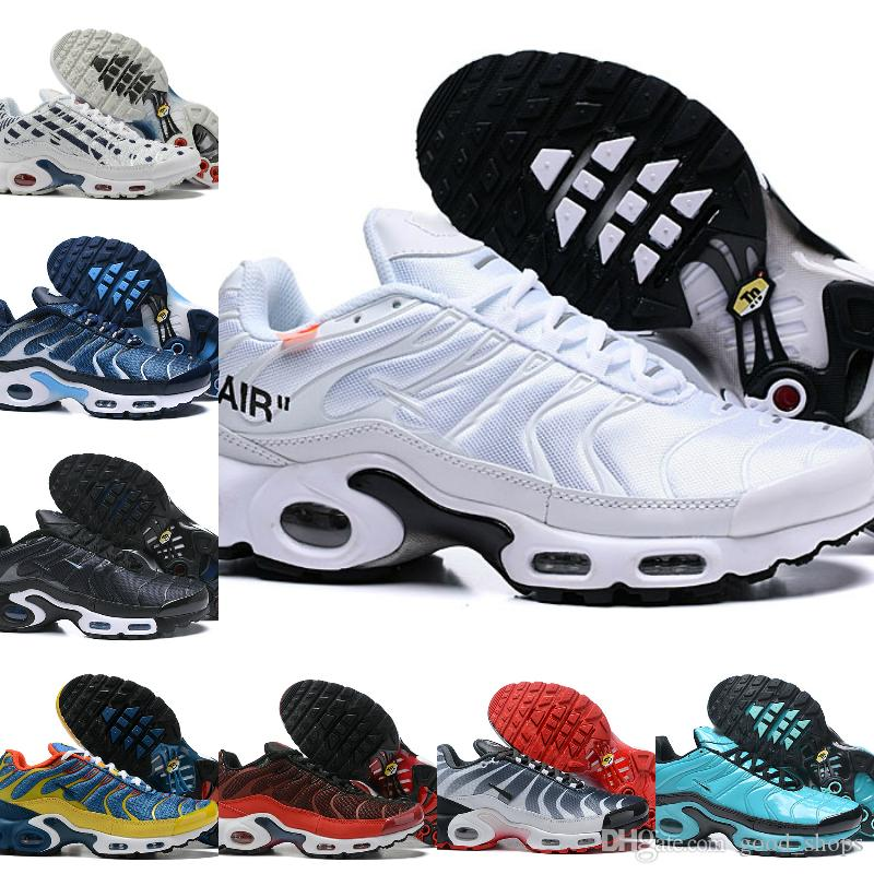 Nike Air Max TN Plus Supreme Shoes airmax Tn Off white Maxes Plus Zapatos transpirables MESH Noir Tn Requin Chaussures OG Zapatillas deportivas de