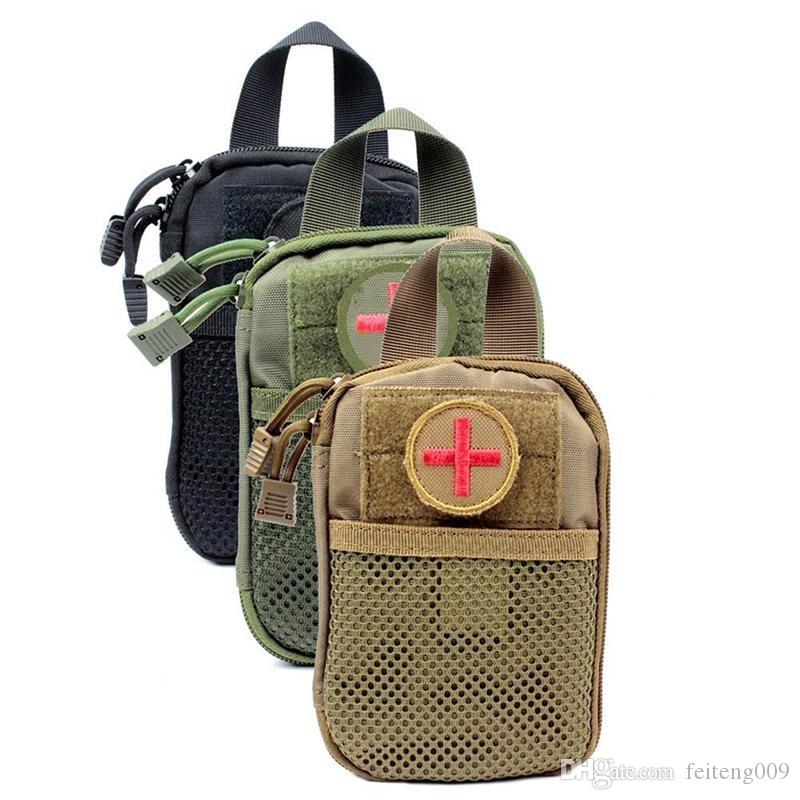LumiParty Survival Waterproof Nylon Durable Tactical Molle System Waist Bag  Travel Medical Military First Aid Kit Sling Pouch #664574