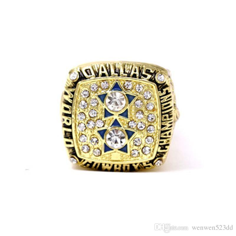 Super American Football 1977 Championship Ring in Europe and America Dallas Cowboys Championship Ring