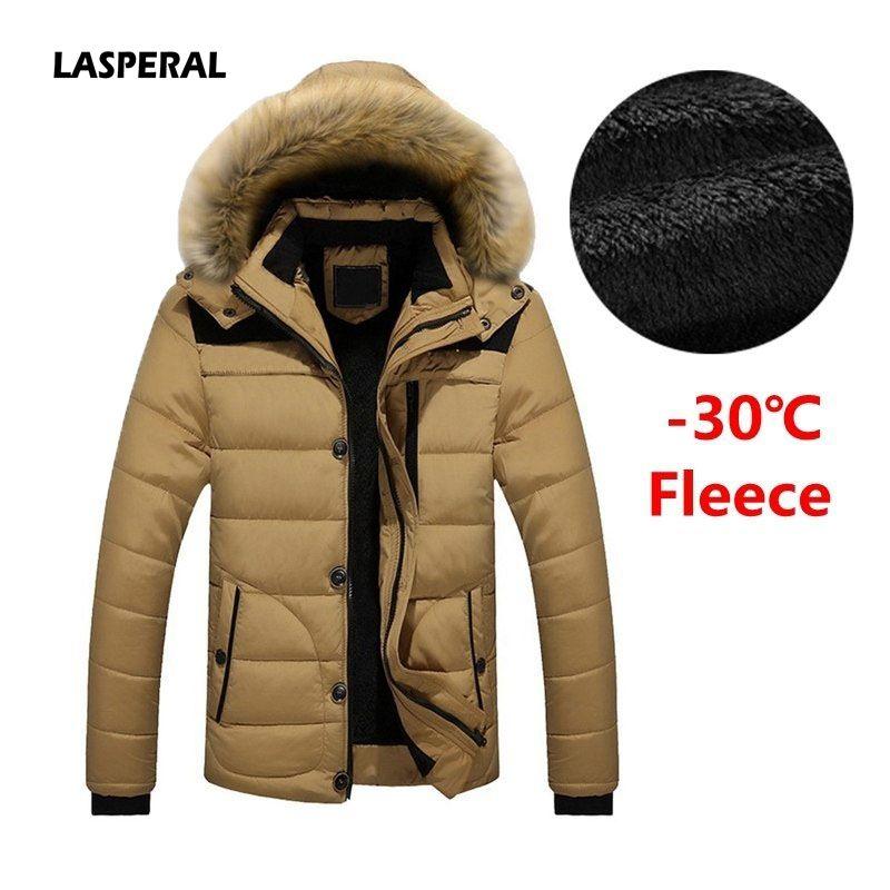 ddb15755db46b ... Jackets Men S Parkas Coats Male Down Keep Warm Faux Fur Lined Parka Plus  Size L 6XL Winter Jackets Brands Denim Bomber Jacket Womens From Whiteheat