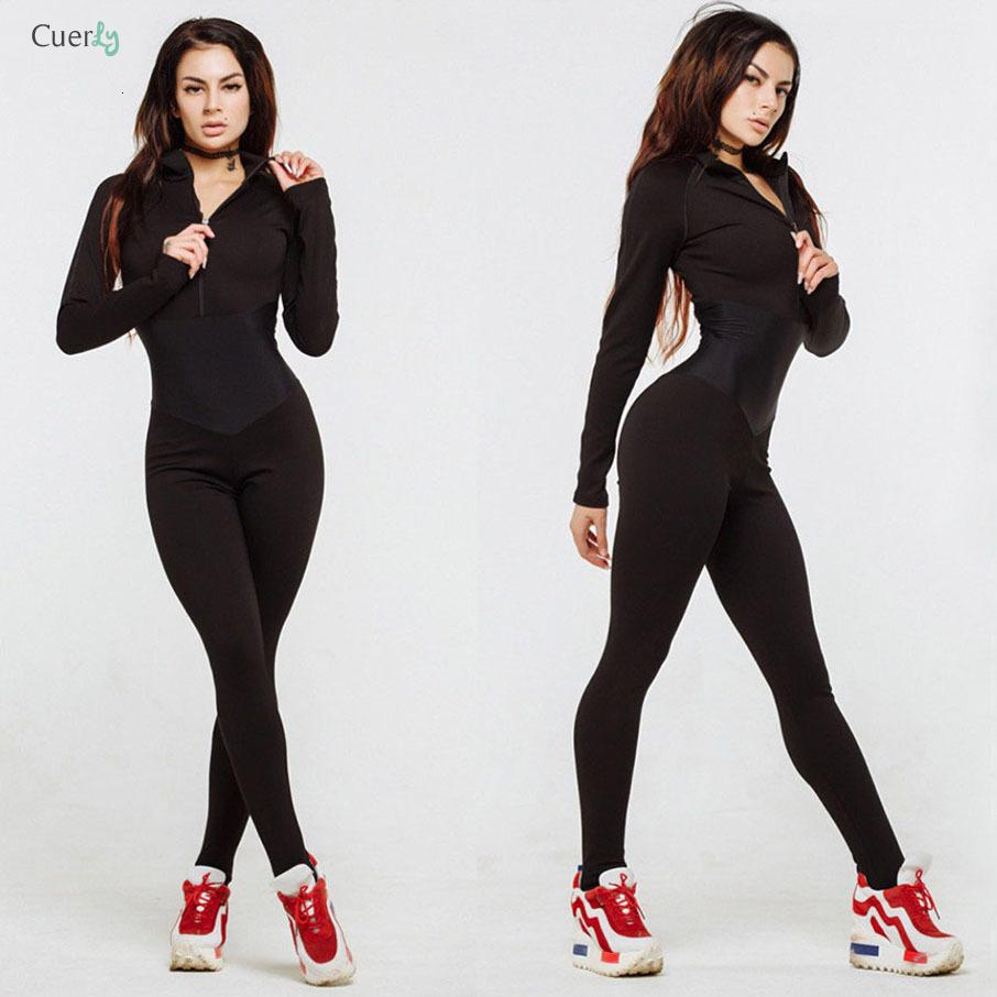 New Arrival Bodysuit Women Zipper Fitness Jumpsuit Autumn Winter Full Sleeve Sporting Turtleneck Skinny Slim Female Casual