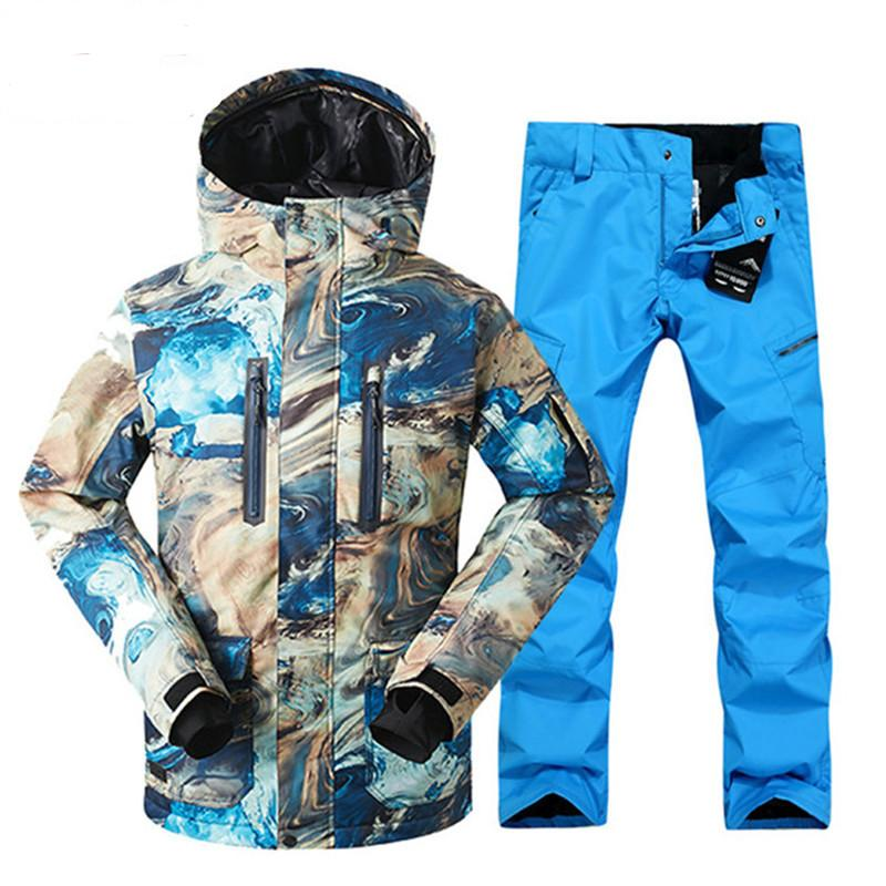 dba0703431 Outdoor Set Skiing Jacket And Pants Brand Men s Winter Ski Set ...