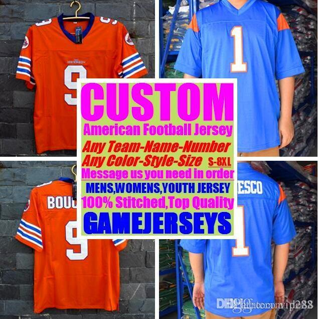 Custom american football jerseys New Orleans team college authentic retro rugby soccer baseball basketball hockey jersey 4xl 5xl 6xl league